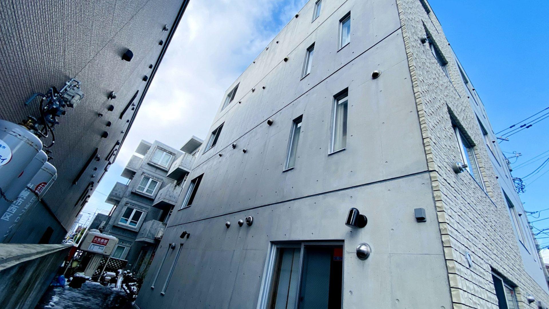 札幌で最大規模のコンクリート再現工法によるリフォーム塗装を施工